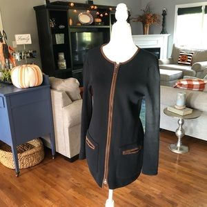 Ralph Lauren Cardigan Long Sleeve Black/Tan Size S